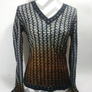 MISSONI V Neck Ombre Sweater Size 40 US S